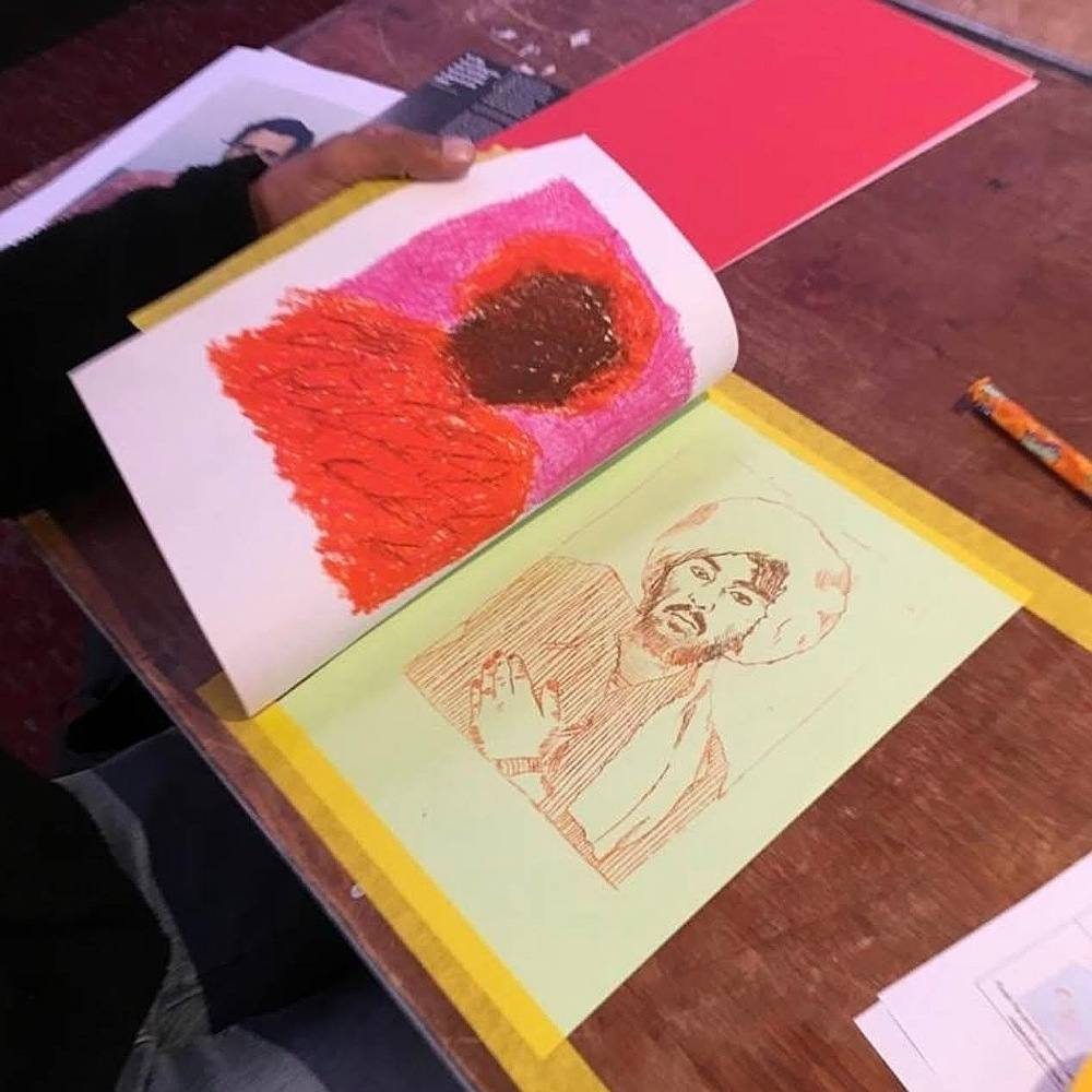 Wax-Monoprint-workshop